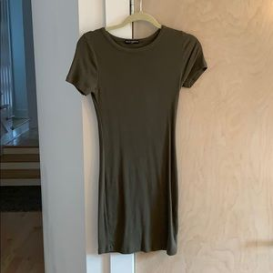 Brandy Melville olive tee shirt dress